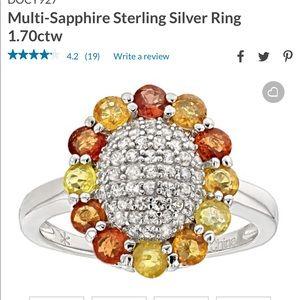 Multi sapphire ring sterling